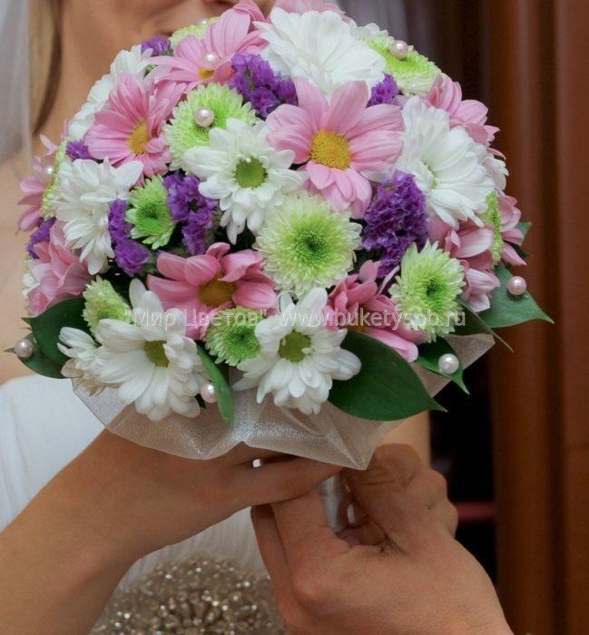 Букет из хризантем для невесты
